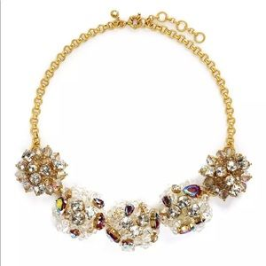 J Crew Cluster Crystal Necklace
